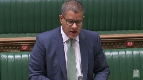 Alok Sharma MP speaking in the House of Commons